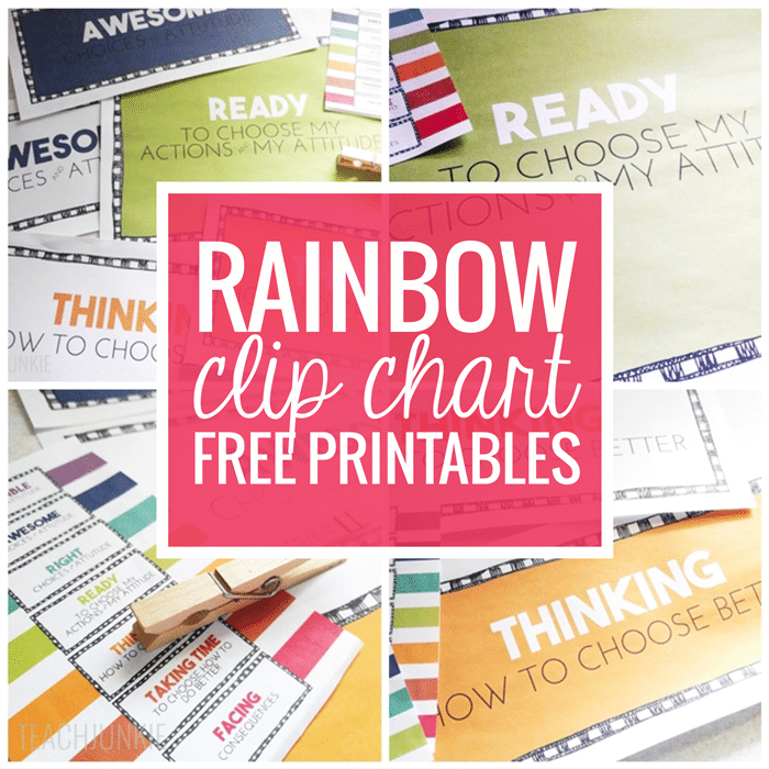 Rainbow Clip Chart Freebie