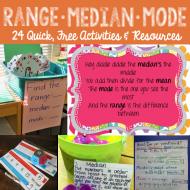 Range Median Mode: 24 Quick, Free Activities and Resources