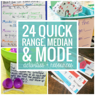 Range Median Mode: 24 Quick, Free Activities and Resources
