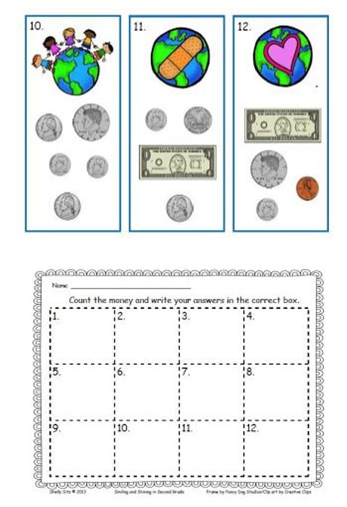 7 Classroom Ready Free Earth Day Activities - Read the Room an Earth Day Activity - Counting Money