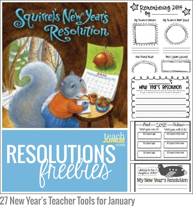 Resolutions Freebies: 27 New Year's Teacher Tools for January - Teach Junkie