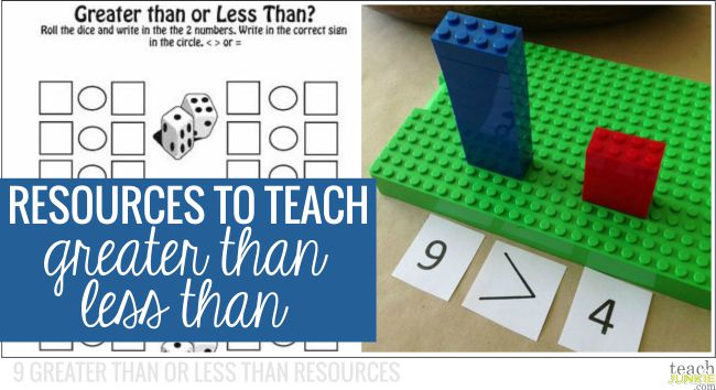 Resources to Teach Greater Than Less Than: 9 Greater Than or Less Than Resources: 9 Greater Than or Less Than Resources - Teach Junkie