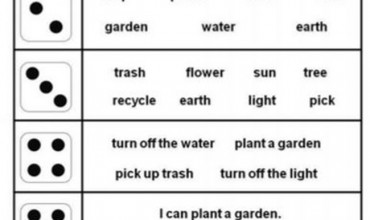 Dice Games Rock! Earth Day Vocabulary Roll and Read