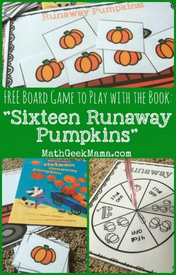 Runaway Pumpkins: FREE Math Board Game - Teach Junkie