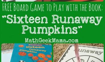 Runaway Pumpkins: FREE Math Board Game