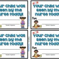 School Nurse Visitor Slips {Printable} - Teach Junkie