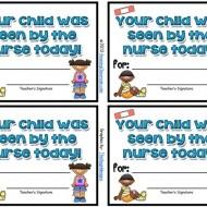 School Nurse Visitor Slips {Printable}