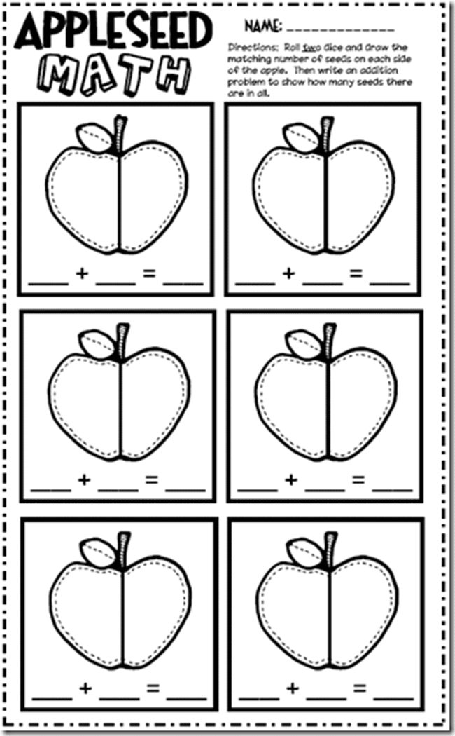 Apple Worksheets For Kindergarten parts of an apple worksheet – Kindergarten Apple Worksheets