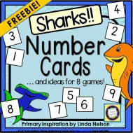 Shark Number Cards and 8 Games to Use with Them