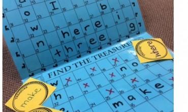Sight Words Battleship Treasure Hunt Game