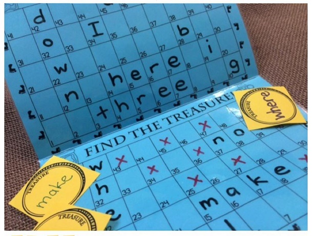 Sight Words Battleship Treasure Hunt Game - Teach Junkie