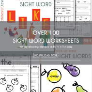 Over 100 Free Sight Words Worksheets