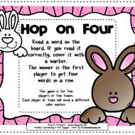 Silent E Four in a Row {Printable}