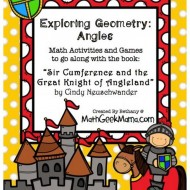 "Teach Geometry Angles: 3 Printable ""Sir Cumference"" Activities"