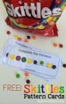 Free Skittles Pattern Cards