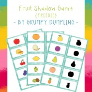 Shadow Memory Game with Fruit {Free Printable}