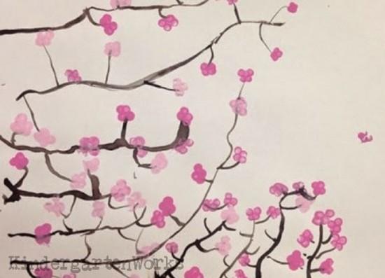 Pinkalicious Spring Japanese Cherry Blossom Art