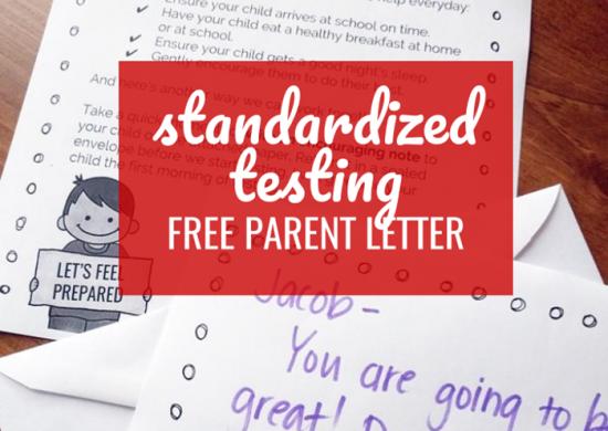 Standardized Testing Parent Letter (Freebie)