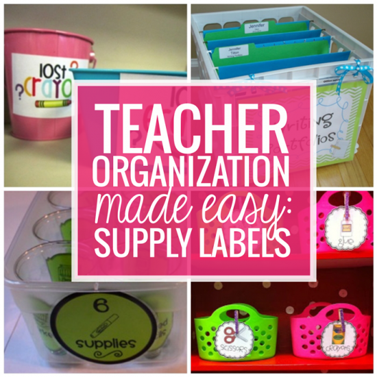 Teacher Organization Made Easy: Free Supply Labels