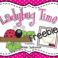 Telling Time Spin and Cover {Ladybug Printable}