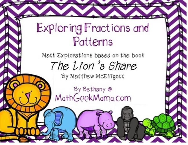 Patterns with Fractions: The Lion's Share Printables - Teach Junkie