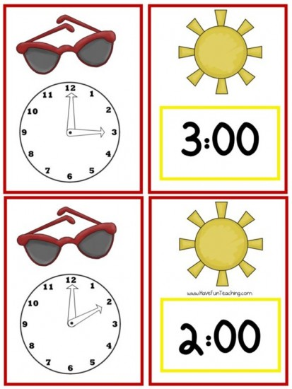 18 Telling Time To The Hour Resources - Time for sunshine - Teach Junkie