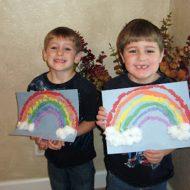 Torn Paper Rainbow Art Project