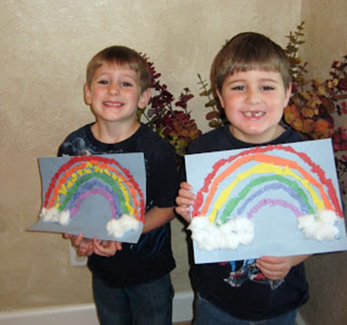 Torn Paper Rainbow Art Project