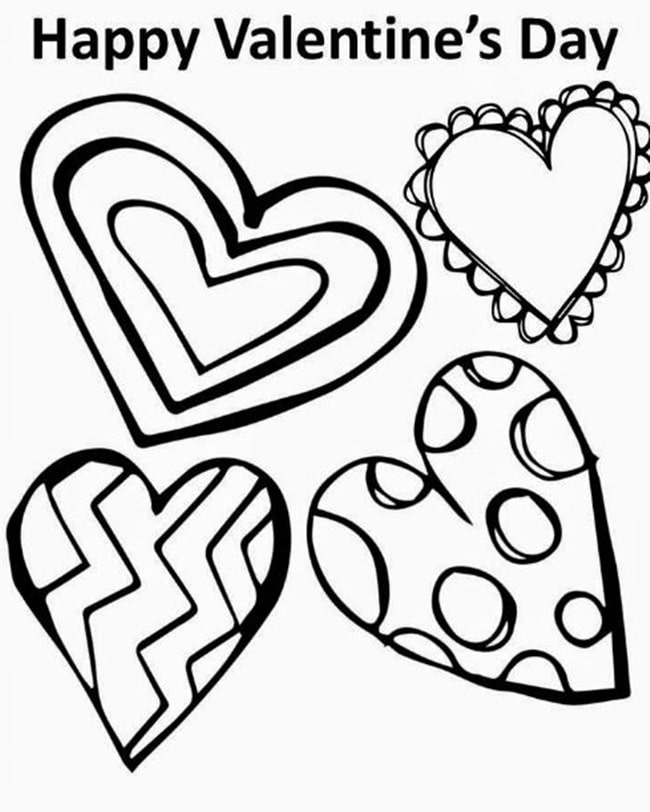 valentine coloring stationary pages | Valentine's Day Writing Paper Templates and Coloring Pages ...