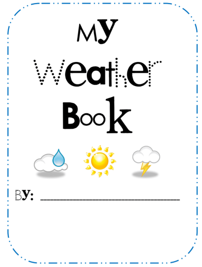 Weather Lesson Ideas and Free Weather Book Activity Printable