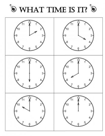 Quick Telling Time To The Hour Resources  Teach Junkie