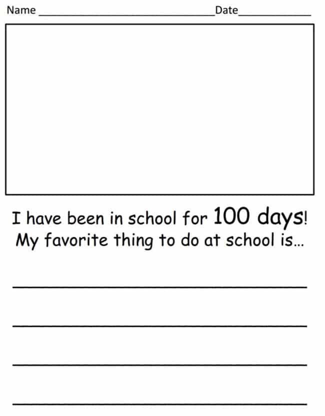 45 Best 100th Day of School Resources - Whats Your Favorite Thing - Teach Junkie