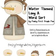 Winter Themed Long A Word Sort Freebie