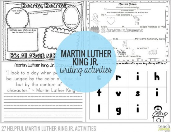 27 Helpful Martin Luther King Jr. Activities - Teach Junkie