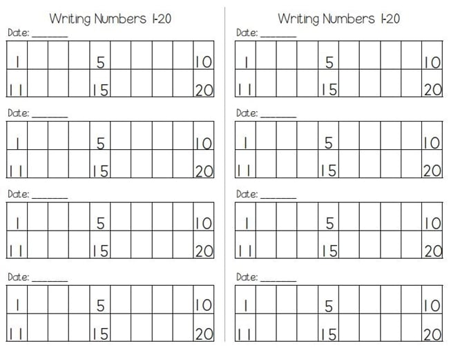 writing numbers to 120 free worksheets teach junkie. Black Bedroom Furniture Sets. Home Design Ideas