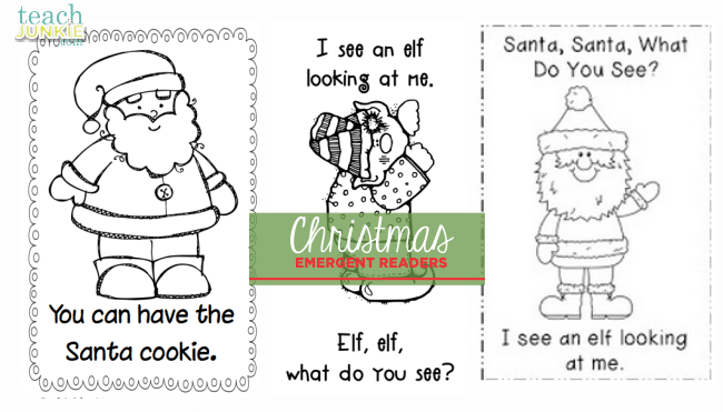 Christmas Emergent Readers - TeachJunkie.com