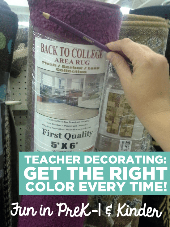 Teach Junkie: Color-Coordinated Shopping with a Crayola