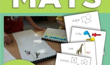4 Sorting Mats for Kindergarten {Free}