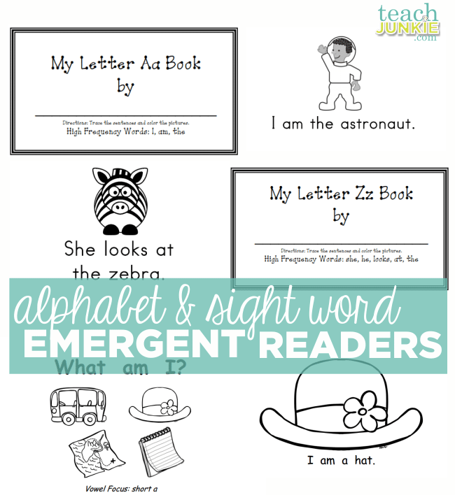 Alphabet and Sight Word Emergent Readers - Teach Junkie.com