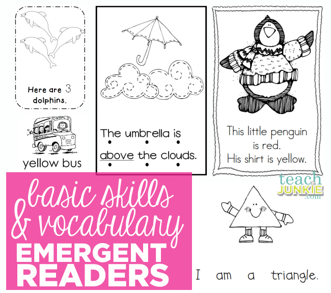 Basic Skills and Vocabulary Emergent Readers - Teach Junkie.com