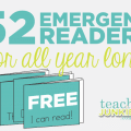 52 Emergent Readers - Teach Junkie
