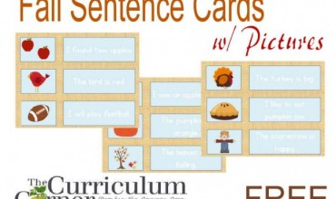 Fall Sentences Pocket Chart Match Up
