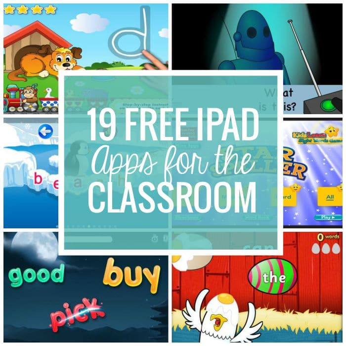 free iPad apps for the classroom - love these reading apps
