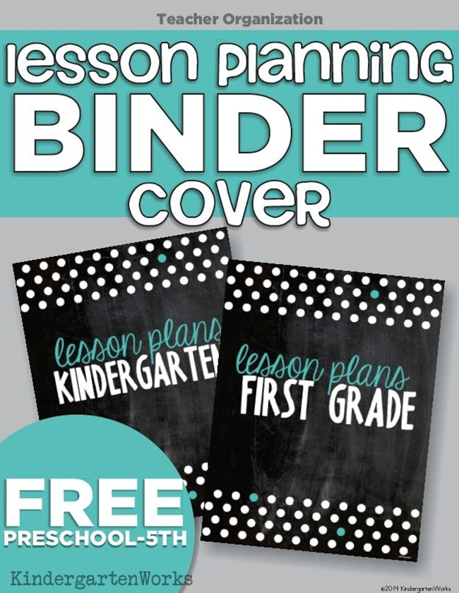 Lesson Planning Binder Covers - 4 Free Printables