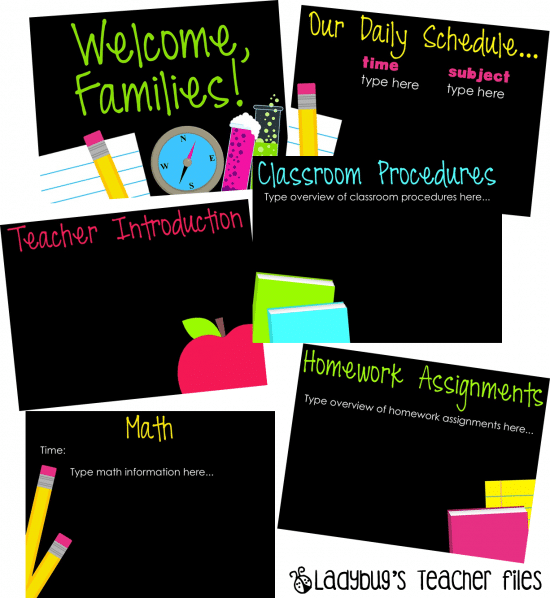 Classroom Presentation Ideas ~ Back to school and parent nights simple ideas teach