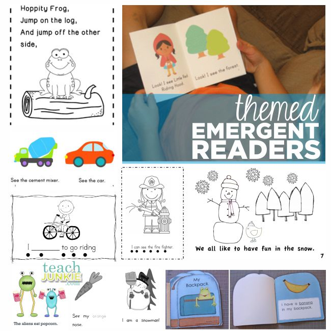 Themed Emergent Readers - Teach Junkie.com