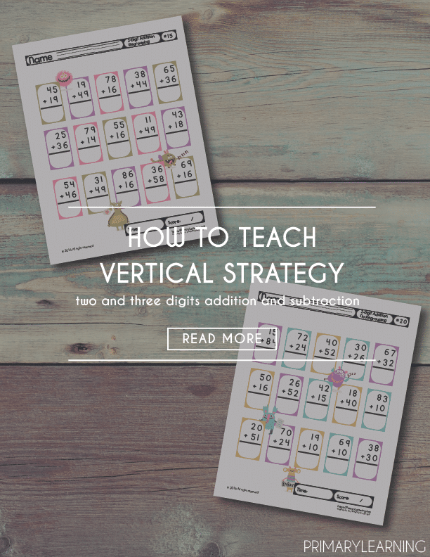 How to Teach Vertical Strategy for Addition and Subtraction